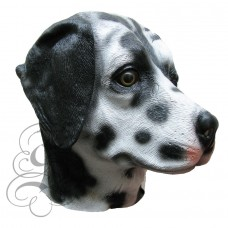 Latex Dalmatian Dog Mask